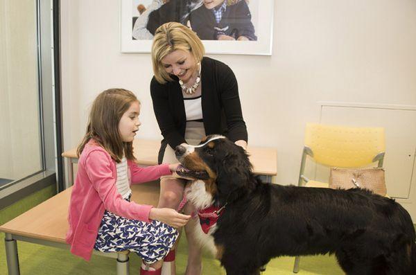 L`ospedale costruisce la stanza dove i pazienti possono giocare con i loro animali domestici