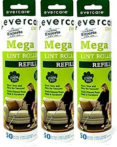 Ricarica di 50 strati di Evercare Pet Mega Roller