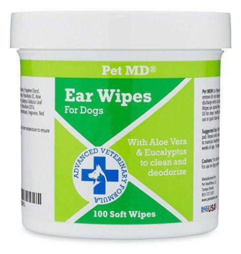 Salviette per la pulizia dell`orecchio per cani MD